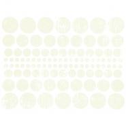 Preslikač, krogi, 16600-1, smetana
