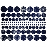 Transfer picture, circles, 16600-11, blue