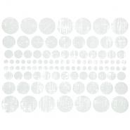 Preslikač, krogi, 16600-14, srebrna