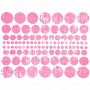 Preslikač, krogi, 16600-4, roza