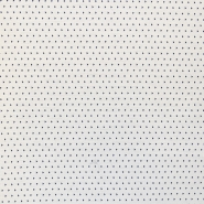 Žakard, obojestranski, geometrijski, 16662-0801, modra, smetana