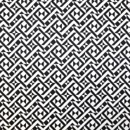 Bombaž, keper, elastan, geometrijski, 16666-0801