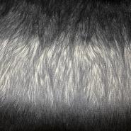 Krzno, umetno, dolgodlako, 16715, črno siva