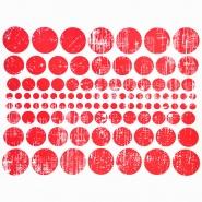 Preslikač, krogi, 16600-16, rdeča