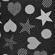 Deko žakard, obojestranski, 16735-1, črna