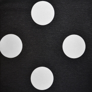 Deco jacquard, big dots, 16737-1, black