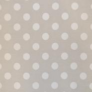 Dekostoff, Jacquard, Punkte, 16738-2, beige