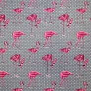 Deco jacquard, animals, 16742-2, grey pink
