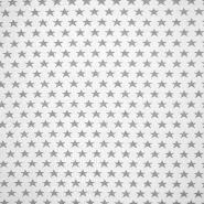 Deko žakard, zvezde, 16745-1, siva