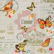 Deko, tisk, digital, romantični, 16750-1