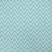 Deco print, zigzag, 16757-2, mint - Bema Fabrics