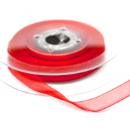 Organza ribbon, 10mm, 15465-1130, red