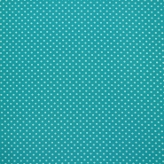 Jersey, cotton, dots, 16363-022, turquoise