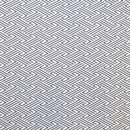 Pletivo, geometrijski, 16810-603, belo modra