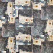 Dekostoff, Druck, digital, Metallplaten, 16851