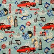 Deco print, digital, cars, 16112-067