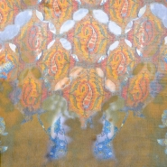 Svila, saten, abstraktni, 16939-7