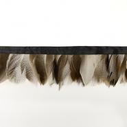 Federn auf Band, 16184-41639, natur