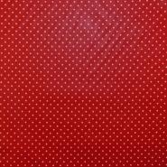 Baumwolle, imprägniert, Punkte, 17051-015, rot