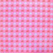 Bombaž, poplin, gobe, 17088-2, roza