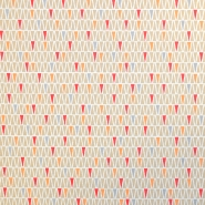 Bombaž, poplin, geometrijski, 17116-3, bež