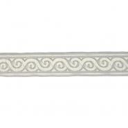 Band, Jacquard, dekorativ, 17137-42624, weiß