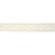 Band, Jacquard, dekorativ, 17137-42626, golden