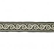 Band, Jacquard, dekorativ, 17137-42623, schwarz
