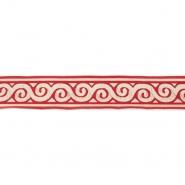 Band, Jacquard, dekorativ, 17137-42625, rot