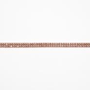 Trak, skaj s kristalčki, 16512-41563, bež