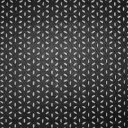 Umetno usnje, oblačilno, cvetlični, 17187-269, črna