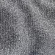 Pletivo, melanž, rebrasto, 17191-065, siva
