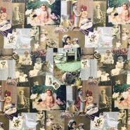 Jersey, bombaž, digital, romantični, 17198
