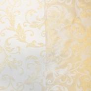 Deko žakard, ornamentni, 17215-01, zlata