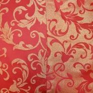 Deko žakard, ornamentni, 17215-02, rdeča