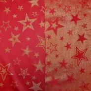 Deko žakard, praznični, 17218-02, rdeča