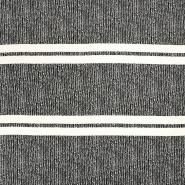 Tkanina, žoržet, vzorec, 16933-11, črno bela