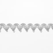 Trak, dekorativni, 16193-41064, srebrna