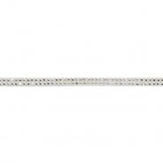 Traka, skaj s kristalima, 16512-41565, bijela