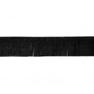 Fransen, Wildleder, 3 cm, 17276-41352, schwarz