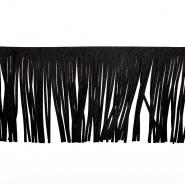 Fransen, Wildleder, 12 cm, 17275-28000, schwarz