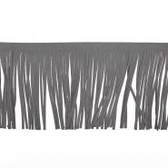 Fransen, Wildleder, 12 cm, 17275-50007, grau