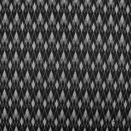 Pletivo, obojestransko, geometrijski, 17296-069, črno bela