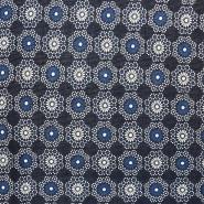 Pletivo, poliester, cvetlični, 17304-007, modra