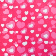 Velur, srčki, 17310-017, roza