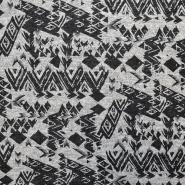 Pletivo, melanž, geometrijski, 17338-974