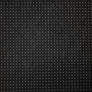 Umetno usnje, oblačilno, pike, 17345-993, črna