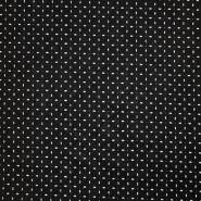 Umetno usnje, oblačilno, cvetlični, 17345-995, črna