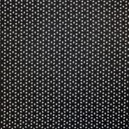 Umetno usnje, oblačilno, cvetlični, 17345-997, črna