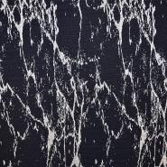 Pletivo, žakard, abstraktni, 17346-600, temno modra